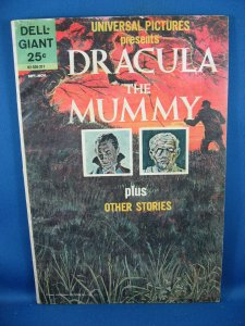 Dell Giant DRACULA THE MUMMY VG+ 1963