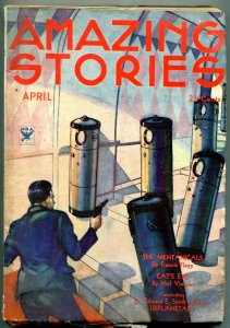 Amazing Stories Pulp April 1934- Cat's Eye- Mentanicals VG+