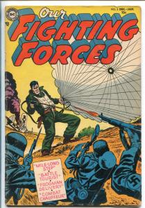 OUR FIGHTING FORCES #2 1954-DC-RUSS HEATH-FROGMAN-PARACHUTE COVER-vg+