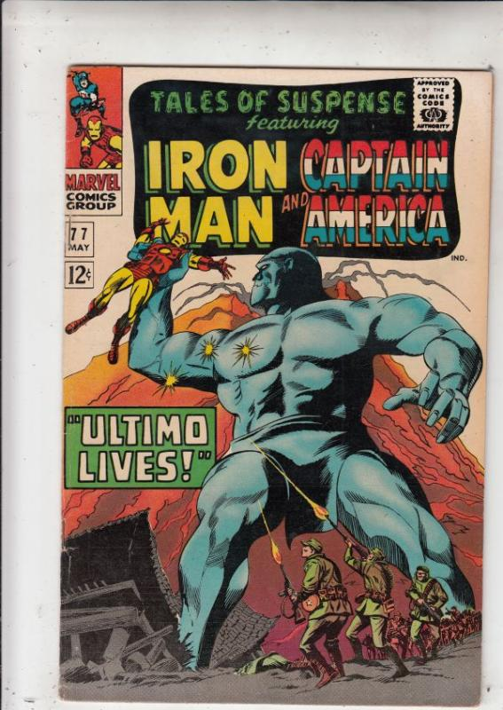 Tales of Suspense #77 (Apr-66) VF/NM High-Grade Iron Man, Captain America, Bu...