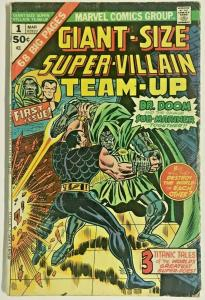 GIANT-SIZE SUPER-VILLAIN TEAM-UP#1 VG 1975 MARVEL BRONZE AGE COMICS