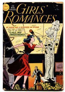 Girls Romances #7 comic book 1951-1st drawn cover- DC Romance