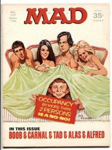 Mad-Magazine #137 1970- Boob & Carnal cover- movie parody F/VF