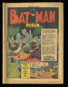Detective Comics (1937) #87 Coverless Complete! Penguin!