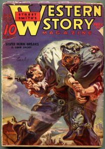 Western Story Pulp March 6 1937- Silver Horn Breaks- Great cover VG-