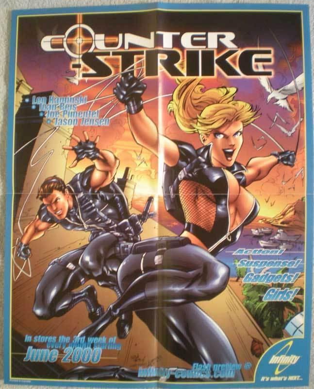 COUNTER STRIKE Promo poster, 16x20, 2000, Unused, more Promos in store