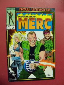 MARK HAZZARD: MERC #5   (9.0 to 9.4 or better)  MARVEL COMICS