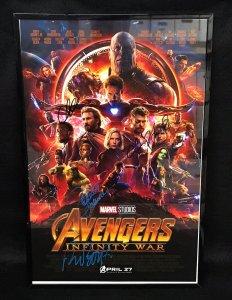 Avengers Infinity War 11x17 Poster w/4 Super-Star Autographs