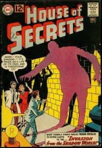 House of Secrets #57 1962- Mark Merlin- Shadow World- DC Comics VG