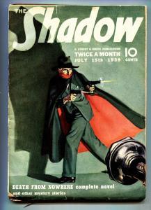 SHADOW 1939 pulp magazine JUL 15-STREET AND SMITH vg