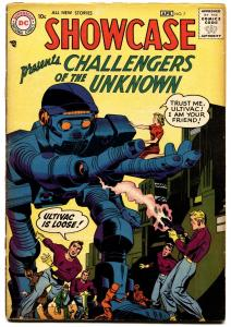 SHOWCASE  #7-1957-DC-2ND CHALLENGERS OF THE UNKNOWN-JACK KIRBY