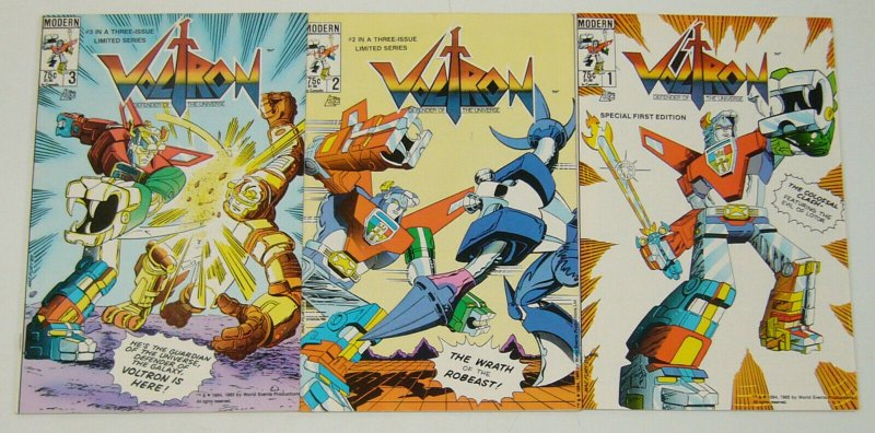 Voltron #1-3 VF/NM complete series - defender of the universe  modern comics set