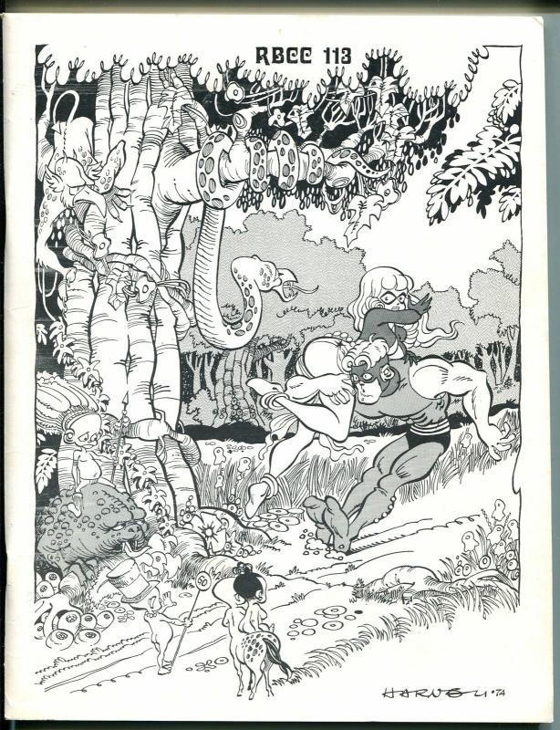 Rocket's Blast & Comic Collector #113 1974-original fanzine-1st van Hise edit-FN