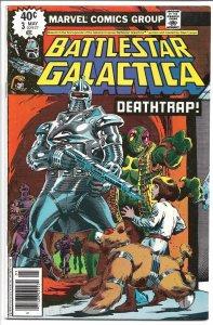 Battlestar Galactica #3 - Bronze Age - (VF+) May, 1979