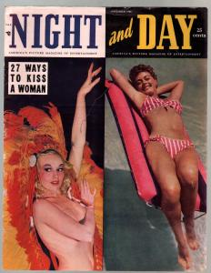 Night And Day #1 11/1948-1st issue-spicy pix-Lana Turner-Jean Harlow-VG/FN