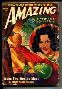 Amazing Stories-Pulps-4/1950-Robert Moore Williams-Paul Lohrman
