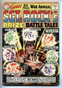 SGT. ROCK'S PRIZE BATTLE TALES-1964-80 PG GIANT VG+