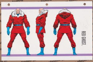 Official Handbook of the Marvel Universe Sheet- Red Ghost