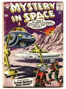 Mystery in Space #45 Grey Tone cover 1958- Flying Saucers over Mars