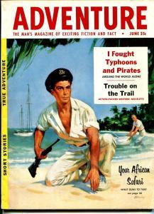Adventure 6/1954-Popular-pulp-Arthur C Clarke-crime-sci-fi-FN