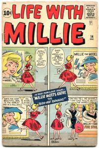 Life With Millie #14 1961-Flying Saucer- Kathy crossover RARE-Paper Dolls- VG-