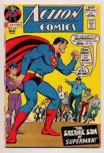 Action Comics Superman Satanic Son of #410 ~ DC Comics  ~ FN (HX502)