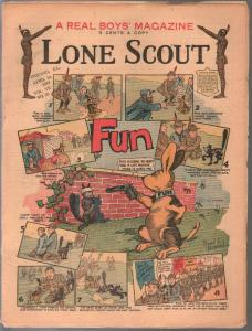 Lone Scout Vol. 7 #25 4/131918-A Real Boy's Magazine-3¢ cover price-VG
