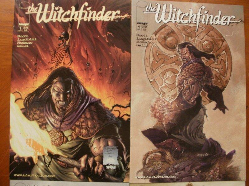 4 Near-Mint Image Comic WITCHFINDER #1 #1 (Variant) #2 #3 (1999) Scott Romano