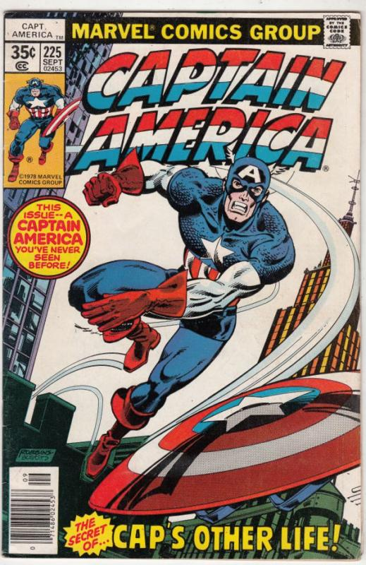 Captain America #225 (Sep-78) VF+ High-Grade Captain America
