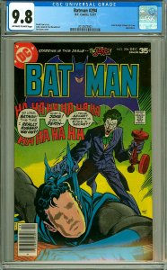 Batman 294 (CGC 9.8) OW/W pages; Joker; High Tribunal of Crime; 1977