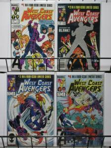 WEST COAST AVENGERS (1984 MINI) 1-4  Complete Series!