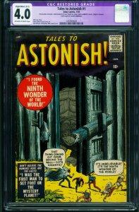 Tales to Astonish #1 CGC 4.0 (B-2) 1959 marvel Kirby-Ditko- 1297065002