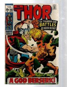 Mighty Thor # 166 VF Marvel Comic Book Loki Odin Asgard Sif Avengers Hulk RB8