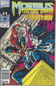 Morbius the Living Vampire #3 (Nov 1992) - co-starring Spider-Man