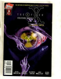 The X Files Ground Zero # 3 VF/NM Topps Comic Book SIGNED Kevin Anderson J372