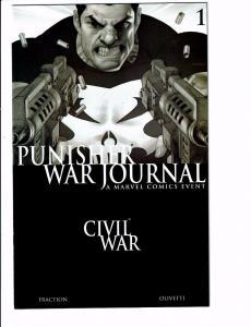 Punisher War Journal # 1 NM B&W Variant Marvel Comic Book Civil War Tie-In J96