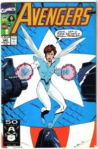 Avengers   vol. 1   #340 VG Michelinie/Lobdell, Captain America, Wasp