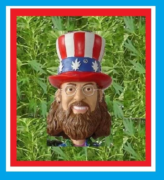 HIGH TIMES CAPTAIN JOINT FOR PRESIDENT MEDICAL MARIJUANA 420 WEED BOBBLEHEAD