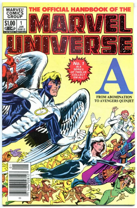 Official Handbook of the MARVEL UNIVERSE #1 2 3 4 5 6 7 8 9 10 11-14, VF/NM,1983