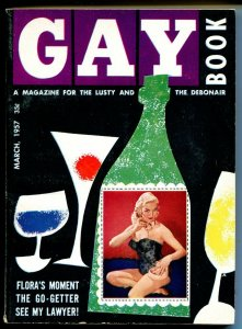 Gay Book 3/1957-1st issue-pulp fiction-Irish McCalla-cheese cake pix-VF