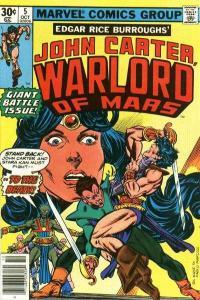 John Carter: Warlord of Mars (1977 series) #5, VF (Stock photo)