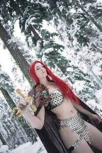 RED SONJA (2018 D. E.) #8 VARIANT 1:15 COSPLAY VIRGIN FOC PRESALE-09/11