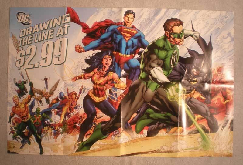 DC DRAWING THE LINE AT $2.99 Promo Poster, Unused, more in our store