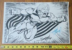 BANSHEE COMIC BOOK ART PAGE SIGNED PRINT JOHN HEBERT 11x17 Marvel Sean Cassidy