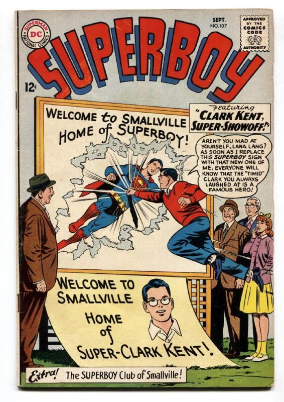 SUPERBOY #107-1963-smallville-DC SILVER AGE-vg+