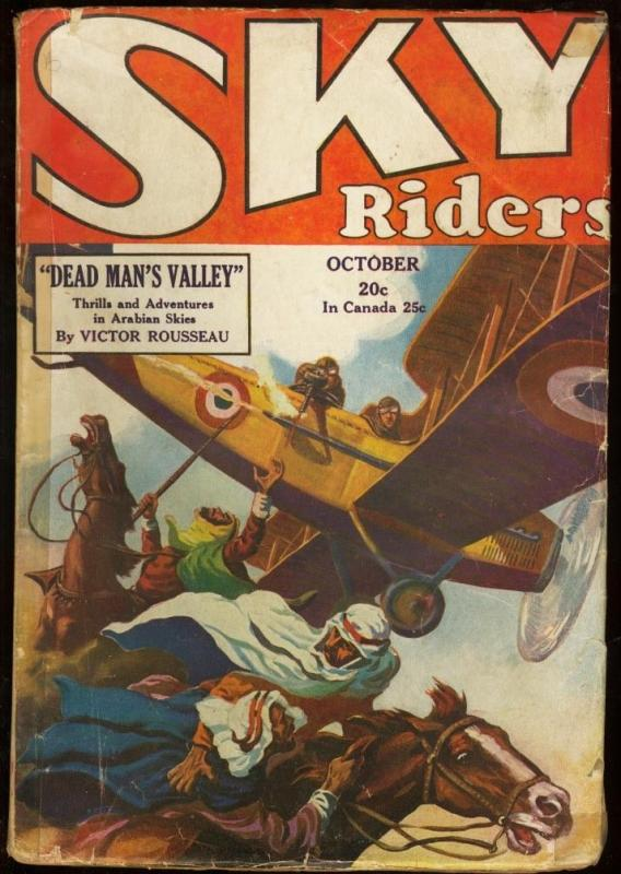 SKY RIDERS 1929 OCT-#12-BRITISH AIRTROOPERS SHOOT ARABS G