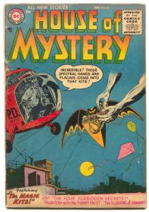 House of Mystery #45 1955- Batman tribute cover VG