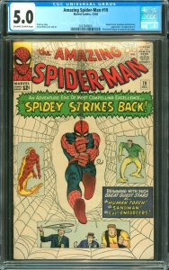 Amazing Spider-Man #19 CGC Graded 5.0 Human Torch, Sandman and Enforcers appe...