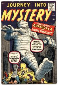 JOURNEY INTO MYSTERY #61-GOMDULLA-PRE-HERO MARVEL-1960-FN
