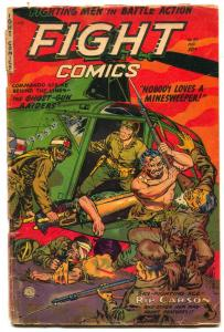 Fight Comics #83 1952- Fiction House War comic- Rip Carson G